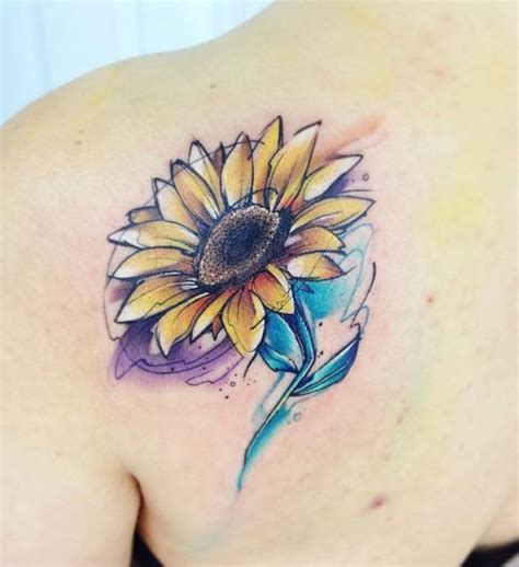sunflower and rose tattoo 25 best ideas about watercolor sunflower on