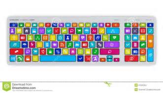 colored keyboard computer keyboard with color social media stock
