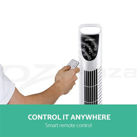 portable fans with remote control devanti portable cross flow tower fan remote control touch