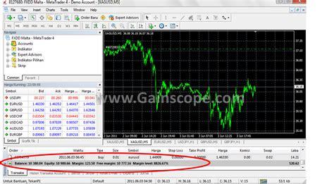 tutorial trading forex untuk pemula kolom balance equity margin panduan belajar forex