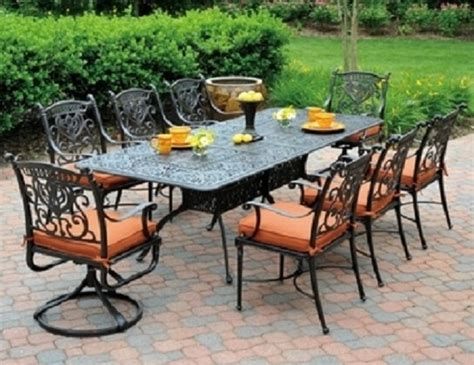 aluminum outdoor furniture sets grand tuscany 8 seat luxury cast aluminum dining set by hanamint