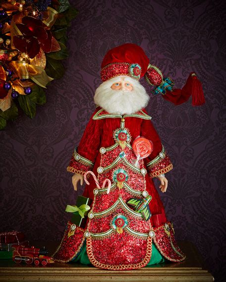 Neiman Marcus Home Decor by Katherine S Collection Advent Santa 28 Quot Doll
