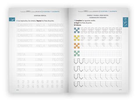 libro cuaderno de escritura 2 escritura y caligraf 237 a media cuadernos rubio
