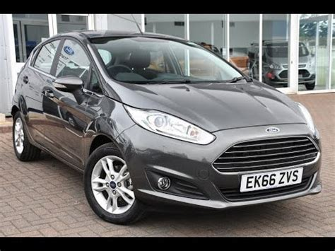 used ford fiesta 1.25 82 zetec 5dr magnetic 2016 youtube
