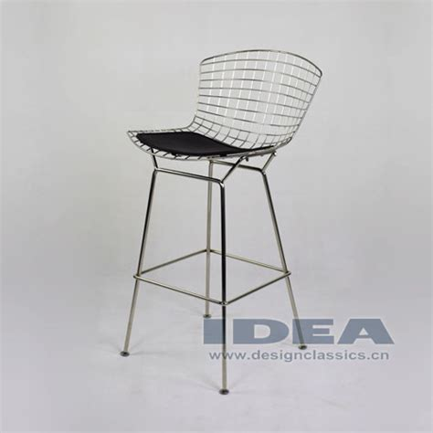 Bertoia Bar Stool Black by Bertoia Bar Stool Black Leather