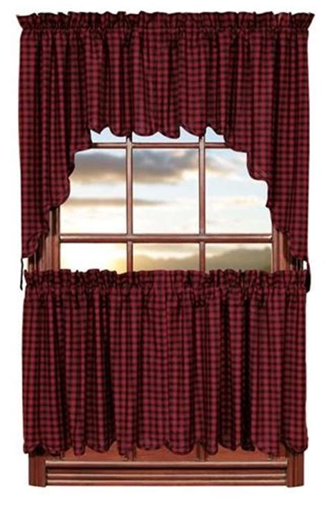 Burgundy Kitchen Valances 95 Best Images About Primitive Window Treatments On