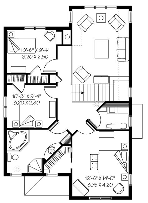 3 bedroom flat plan drawing 301 moved permanently