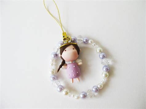 Gantungan Handphone Clay Smurf 2 Handmade Japan mantou keychain clay purple on luulla