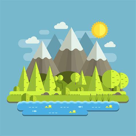flat landscape illustrator tutorial for beginners youtube 20 latest easy adobe illustrator cc cs6 tutorials for