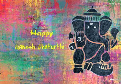 happy ganesh chaturthi colorful painting