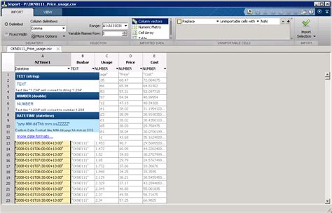 Convert Mat File To Csv by Importing Iso 8601 Formatted Csv Dates Into Matlab R2014b