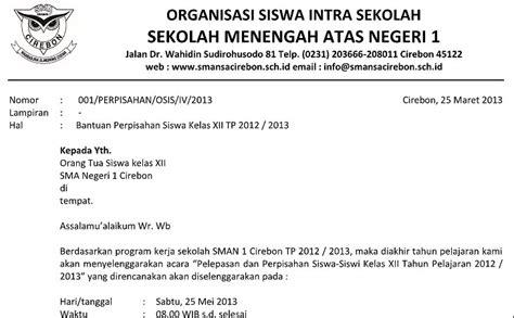 contoh surat undangan perpisahan sma smp sd terbaru