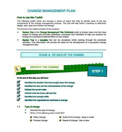 it change management template sle change management plan template 9 free documents