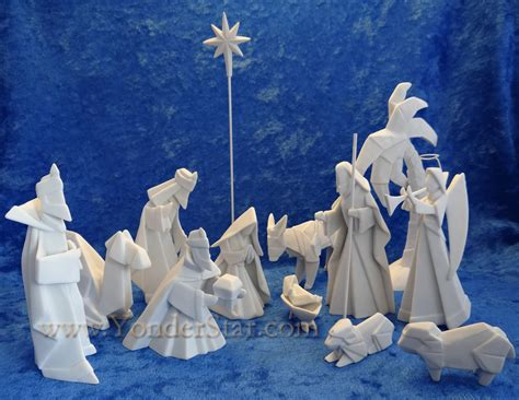 How To Make An Origami Nativity - porcelain origami nativity 14 pcs pre order