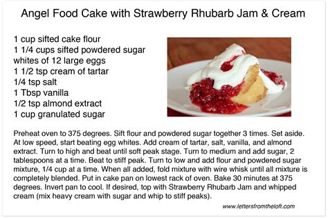 recipes for food food cake with strawberry rhubarb jam letters from the loft letters from the