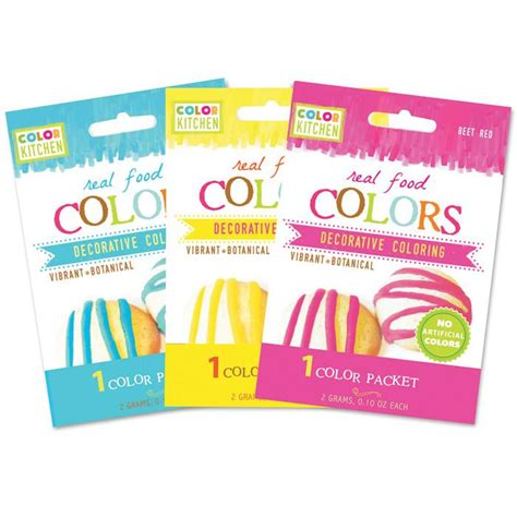 Glob Colors Single Food Color Packets By Colorkitchen Color Packets