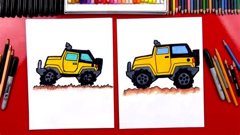 jeep drawing easy how to draw a jeep