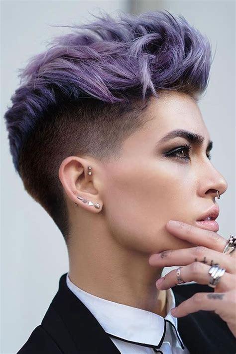 fade haircuts  women  glam  short trendy