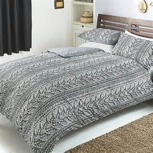 asda duvet covers george home grey printed knit duvet duvet covers asda