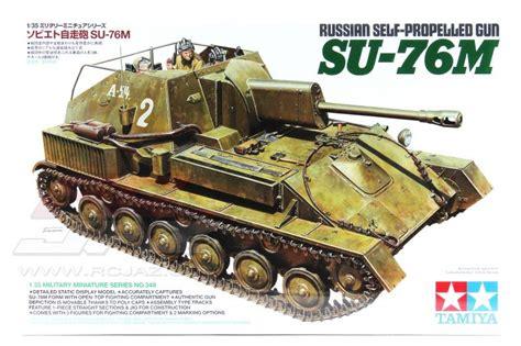 Model Kit Tamiya 135 Russian Self Propelled Gun Su 76m Su76 1 35 russian self propelled gun su 76m tamiya 35348