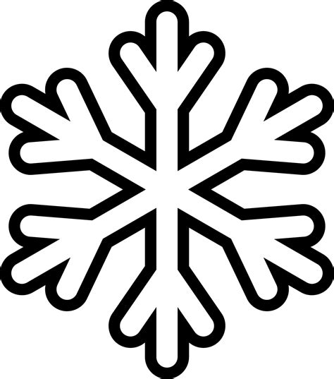 snowflakes outline clipart best