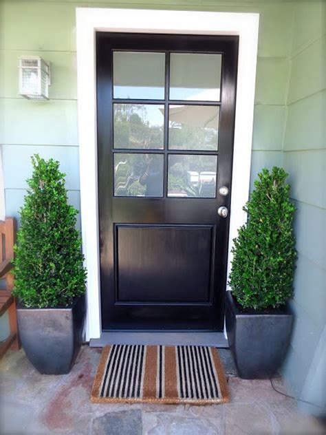 Exterior Glass Doors For Home Stylish Black Front Doors Change Your House S Curb Appeal