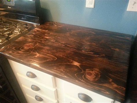 diy butchers block countertops using jacobean stain diy