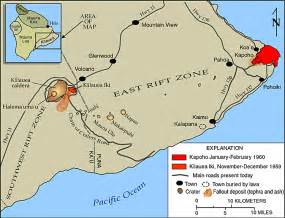 Mauna loa map map of kilauea volcano