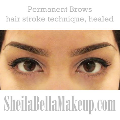 new eyebrow tattoo technique permanent makeup by hair stroke technique
