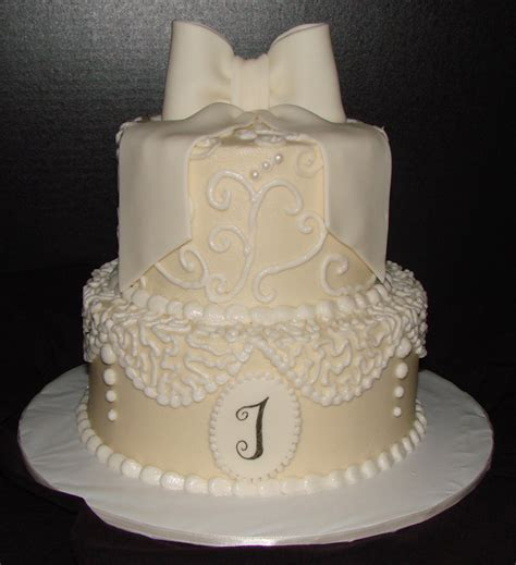 what should a bridal shower cake say lace bridal shower cake