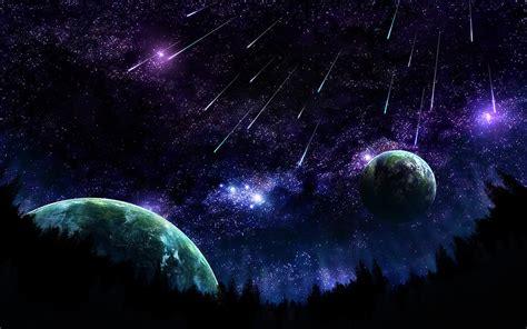 meteor shower bureaubladachtergronden be