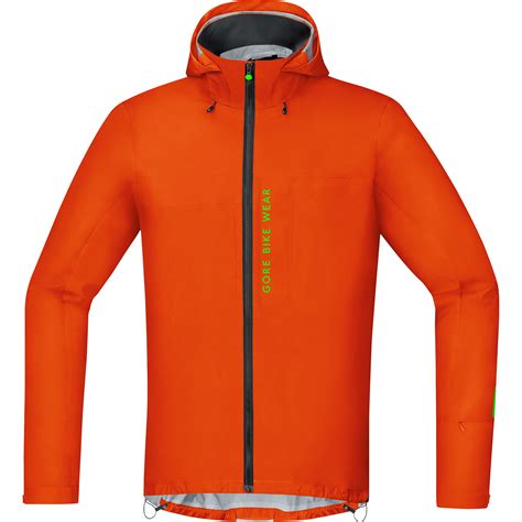 gore tex cycling jacket wiggle gore bike wear power trail gore tex orange active