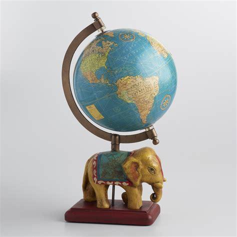 World Market Elephant L by Painted Globe On Elephant Stand World Market