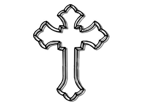 printable cross template clipart best
