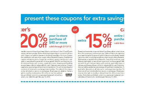 carters discount coupons online