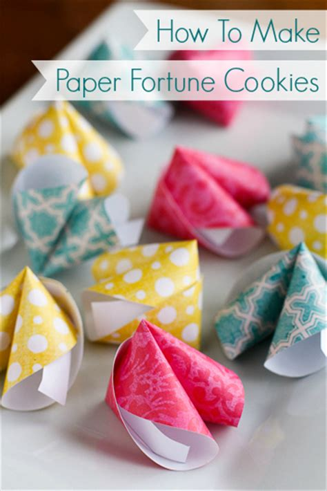 How To Make Fortune Cookies Out Of Paper - 12 new year crafts tauni co