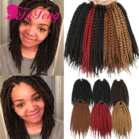 braided hair pack crotchet box braids hair extensions 12 roots pack
