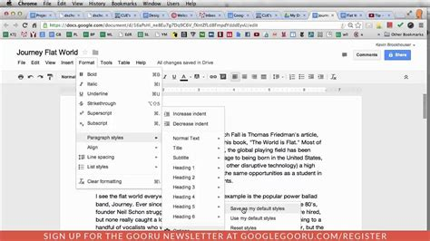 how to change font color in docs change the default font in docs