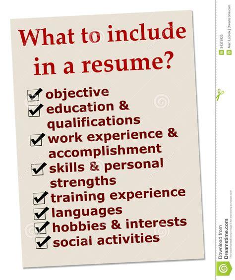 resume stock photos image 34371923