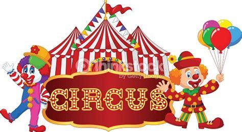 Banner Ulang Tahun 1 X 1m Free Design zirkuszelt mit clown isoliert auf wei 223 em hintergrund
