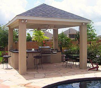 free standing patio cover plans covered outdoor kitchen