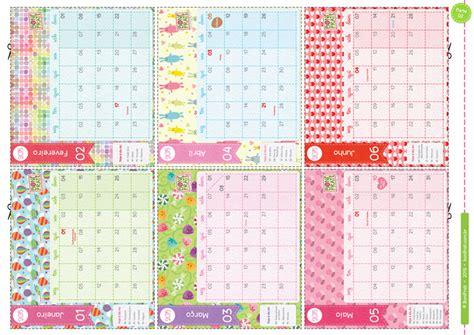 Calendario Mensal Para Imprimir Imprimir E Recortar Folhinhas Calend 225 2015 De Janeiro A