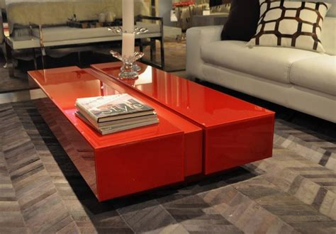 Red Living Room Table Modern House | showroom pieces modern living room red coffee table set