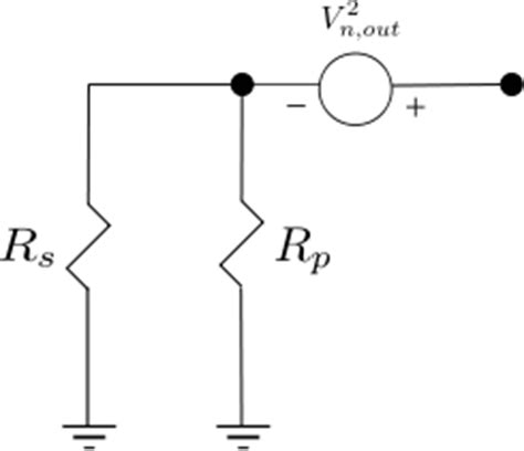 parallel resistor noise noise figure of resistor network