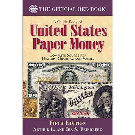 the of money books the official book a guide book of united states paper