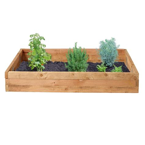 home depot garden bed outdoor essentials 3 ft x 6 ft western red cedar raised