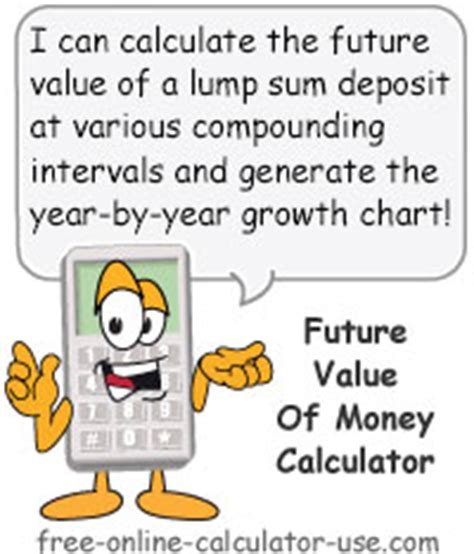 future value of money calculator to calculate growth of