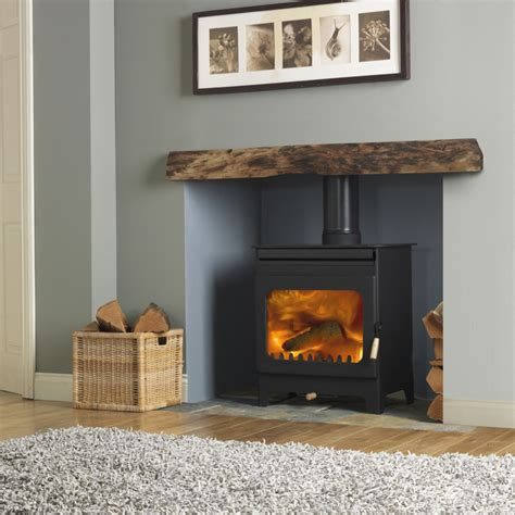 Livingroom Tiles by Burley Brampton 8kw Wood Burner Flames Stoves Of