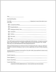 Parent Notification Letter Behavior Classroom Behavior Management A Comprehensive Set Of