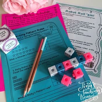 position pattern in math number pattern activities centers and craftivities tpt